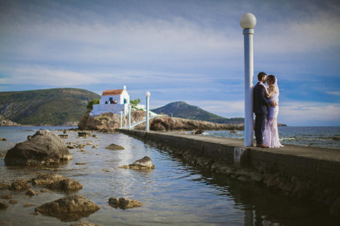 romantic wedding in Leros
